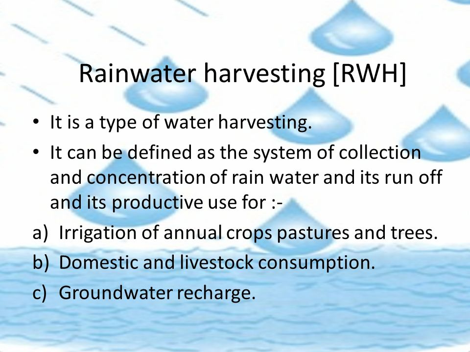Rainwater Harvesting And Watershed Management Ppt Video